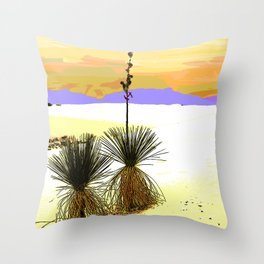 Two Sentinels at White Sands National Monument Throw Pillow