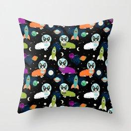Corgi astronaut tri colored corgi space cadet outer space dog breed corgis Throw Pillow