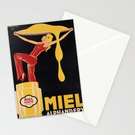 Affiche miel alphandery. 1932  Stationery Cards