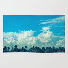 Clouds and Palmtrees Rug