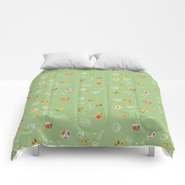 Dinosaur Dig Polyhedral Dice Pattern Comforters