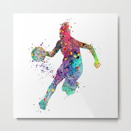 Girl Basketball Watercolor Print Basketball Wall Art Basketball Poster Basketball Wall Decor Metal Print