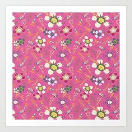 Tiara Flower Pink Art Print