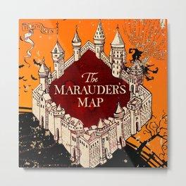 Hogwarts Map Metal Print