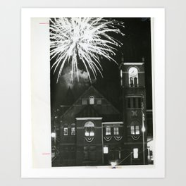 Fireworks over the Courthouse Art Print