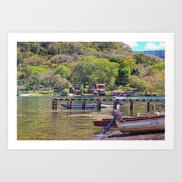 Gold lake Art Print