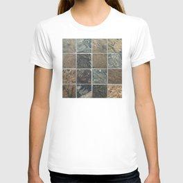 Desert Colored Stone Tiles Pattern T-shirt