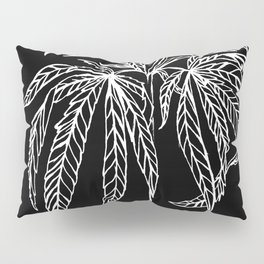 Reverse Cannabis Illustration Pillow Sham
