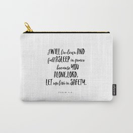 Psalm 4:8 - Bible Verse Carry-All Pouch