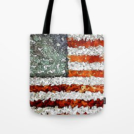 American Flag Abstract Tote Bag