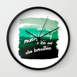 she says like literally Wall Clock