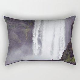 Man Vs. Nature - Skógafoss, Iceland Rectangular Pillow