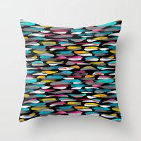 stripes Throw Pillows featuring Stripes by Meryl Pardoen