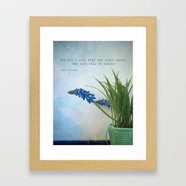 the right words Framed Art Print