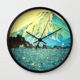 Waddling through Kennijo Lake Wall Clock