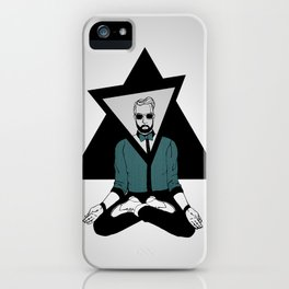 The meditator hipster iPhone Case
