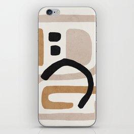 Abstract shapes art, Mid century modern art iPhone Skin