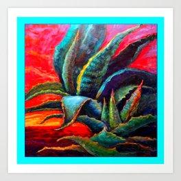 WESTERN DESERT BLUE AGAVE Art Print