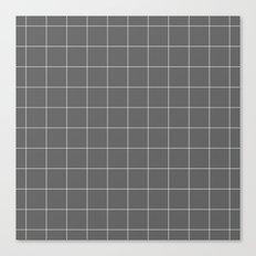 Grey and White Grid Canvas Print