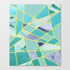 Abstract #439 in Green and Gold Canvas Print