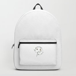 Hand Drawn Illustrations Beautiful Stitching Sewing Gift Backpack