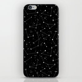 Constellations (Black) iPhone Skin