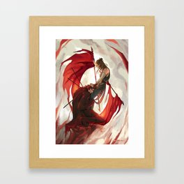 Bleeding flags Framed Art Print