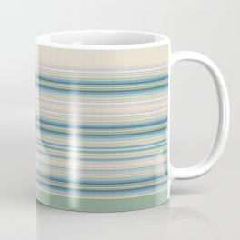 Mint Green Cream Stripes Coffee Mug