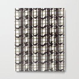 bird plaid Metal Print