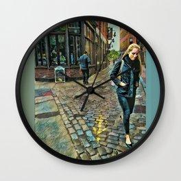 Step Arrows Wall Clock