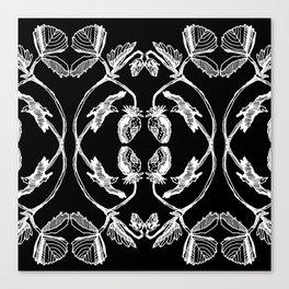 STRAWBERRIES BLACK Canvas Print