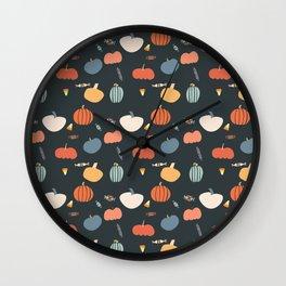 PumpkinPattern Wall Clock