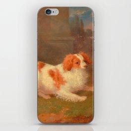 dog painting Blenheim spaniel iPhone Skin