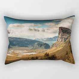 Brown Mountain Rectangular Pillow