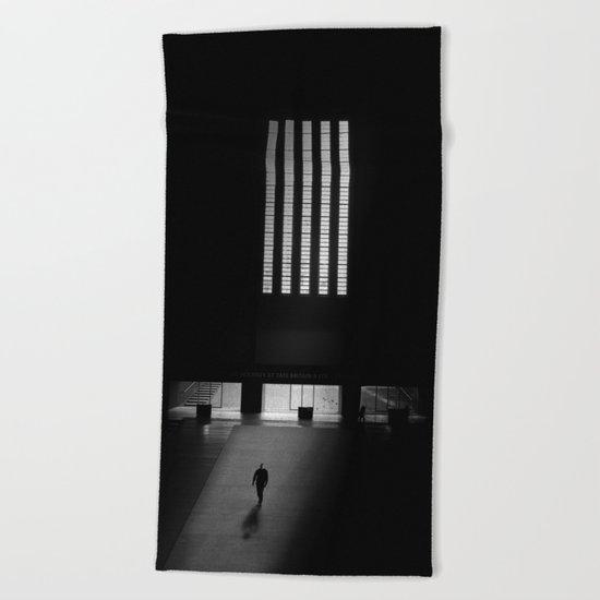 black white photo Beach Towel
