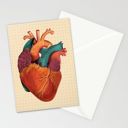 Anatomical Human Heart - Textbook Color Stationery Cards