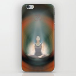 Prana - Yoga Art By Sharon Cummings iPhone Skin