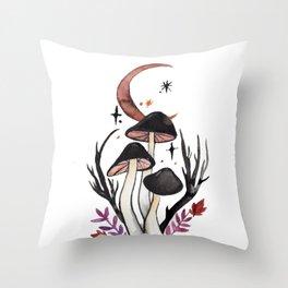 Potion Mushrooms Throw Pillow