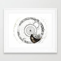 astrology Framed Art Prints featuring astrology lapse by Carolina Arévalo