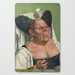 A Grotesque old woman by Quentin Matsys 1513 Cutting Board
