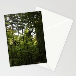 Digital photo wood greed trees leaves photography Delnice Croatia Stationery Cards
