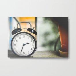 Alarm Clock Metal Print