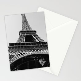 Eiffel Tower // Looking up at the World's Most Famous Monument in Paris France Classic Photograph Stationery Cards