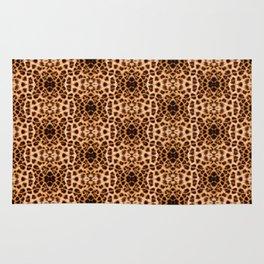 Leopard Print Kaleidoscope Abstract Rug