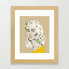 Stop bugging me Framed Art Print