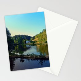 A summer evening along the river | waterscape photography Stationery Cards