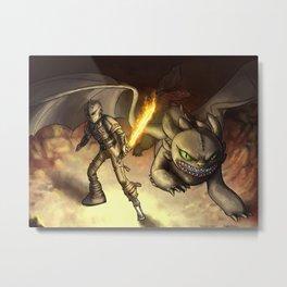 httyd2: To Battle Metal Print
