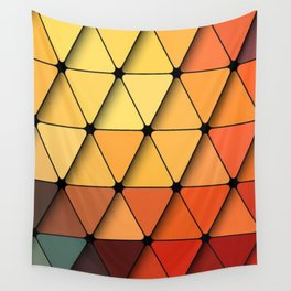 Multi Colored Geometric Triangle Pattern Wall Tapestry