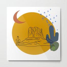 Desert Night Metal Print