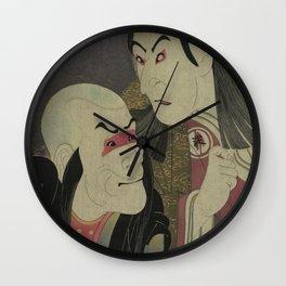 Sharaku_(1794) Sawamura Yodogorō II Wall Clock